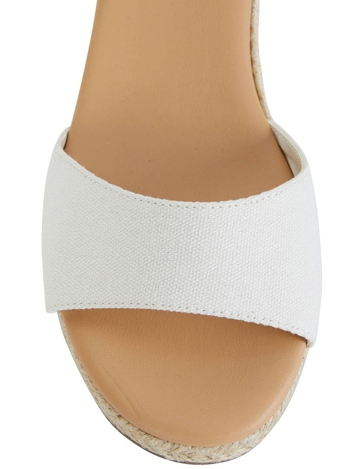 Safari White Fabric Sandals image 6