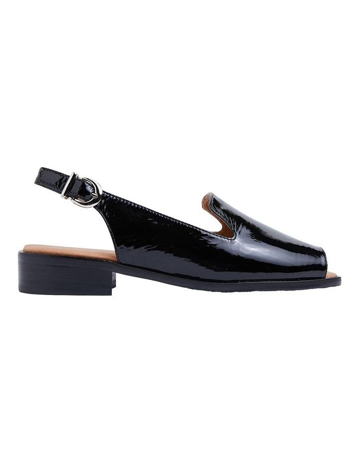 Delaney Black Crinkle Patent Sandals image 1