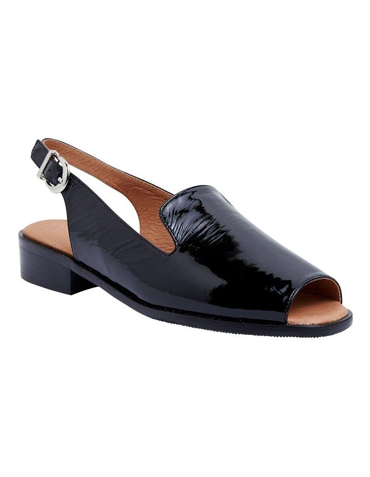 Delaney Black Crinkle Patent Sandals image 2
