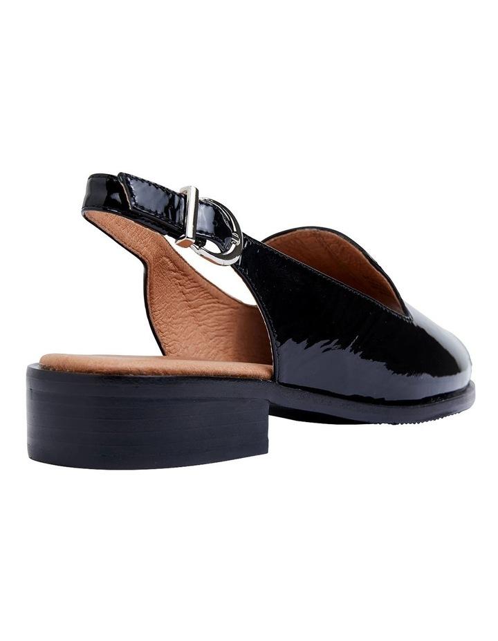 Delaney Black Crinkle Patent Sandals image 4