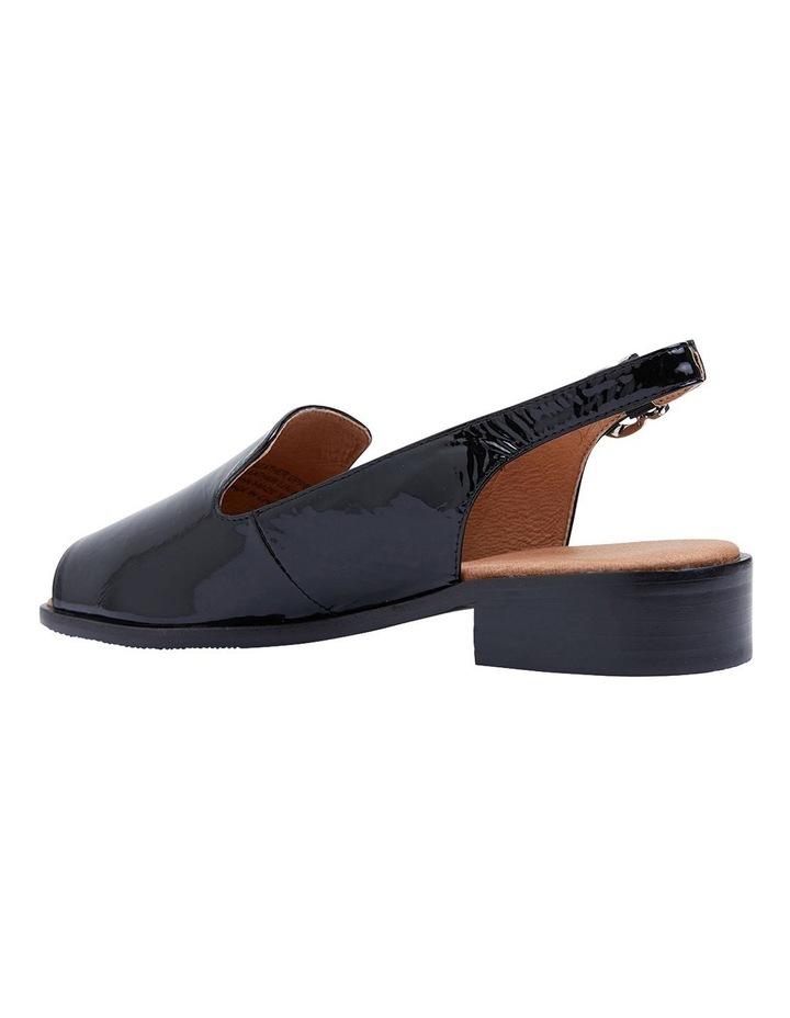 Delaney Black Crinkle Patent Sandals image 5