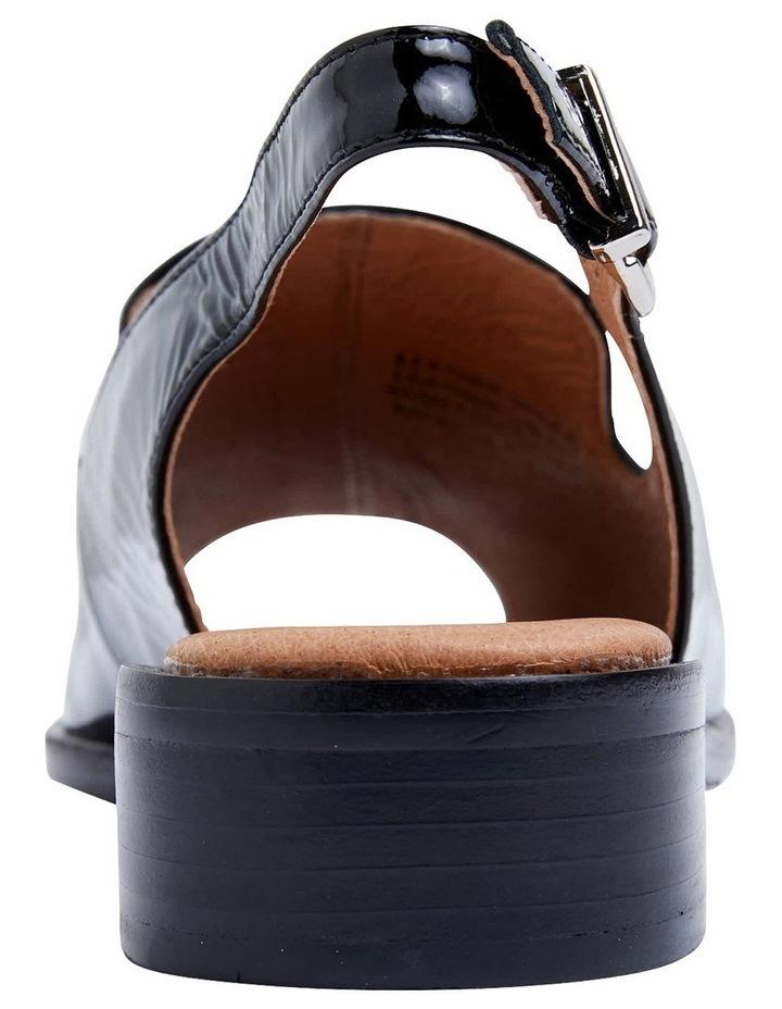 Delaney Black Crinkle Patent Sandals image 6
