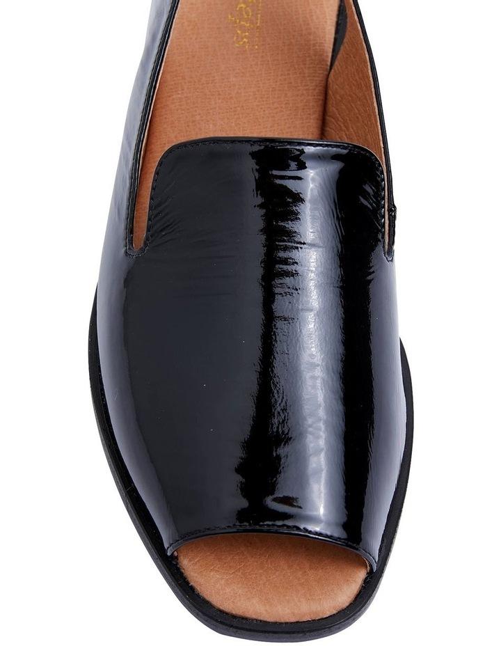 Delaney Black Crinkle Patent Sandals image 7