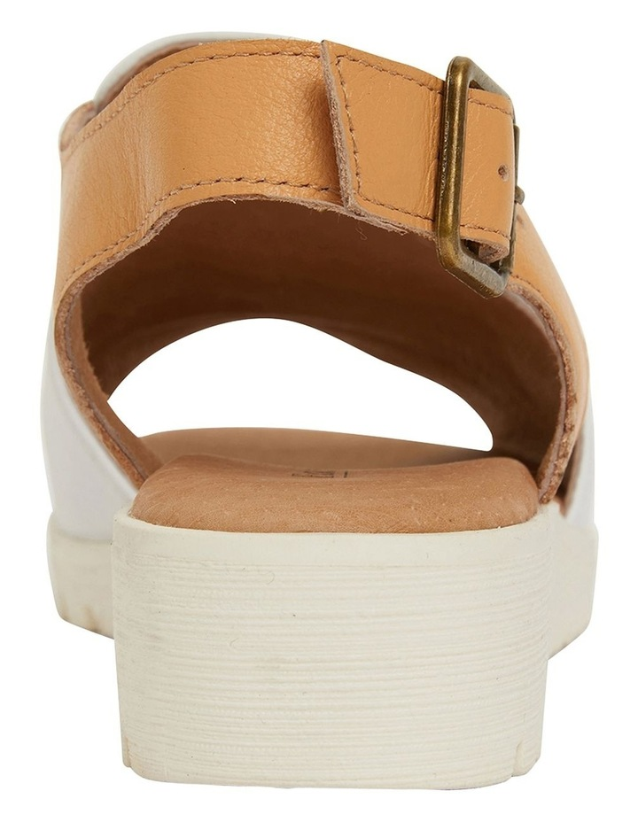 Gelato White/Tan Glove Sandals image 6