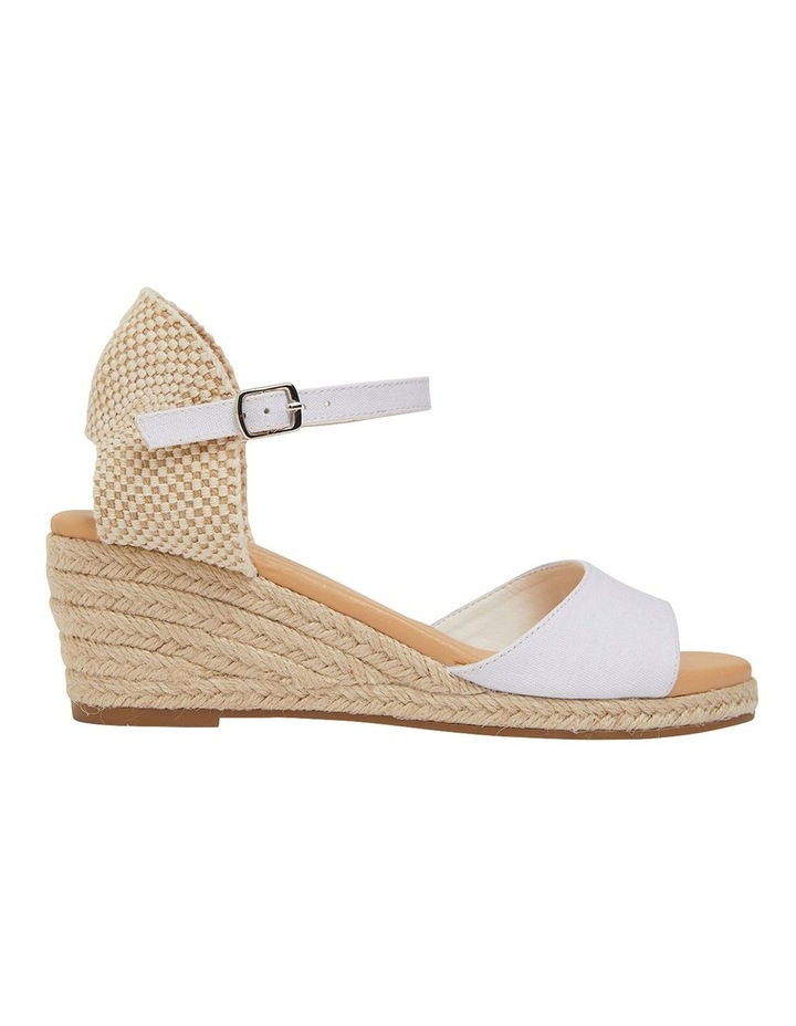 Scout White Fabric Sandals image 1