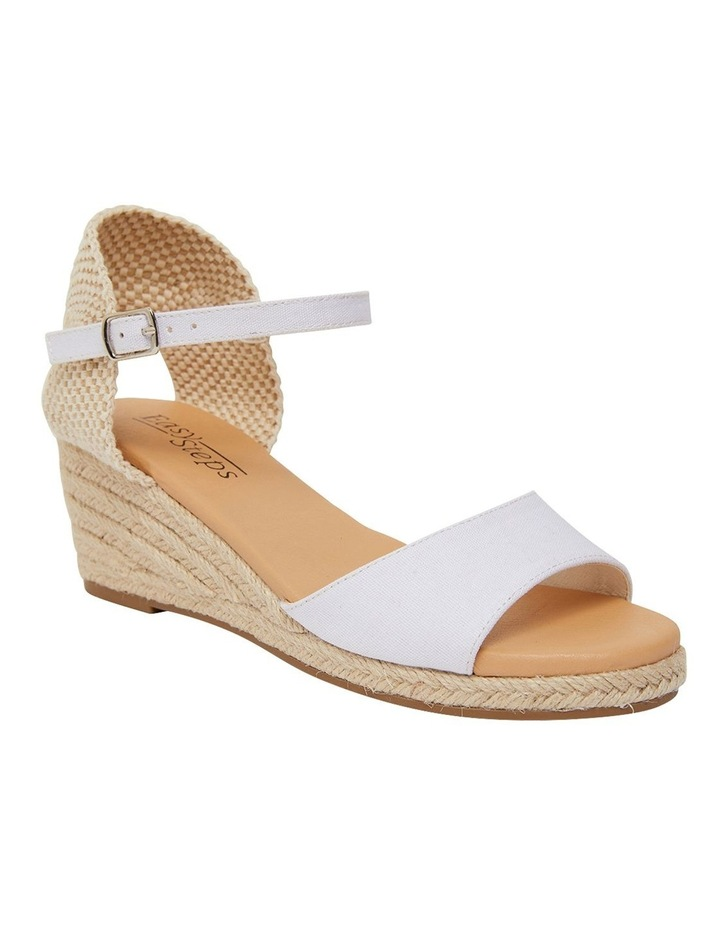 Scout White Fabric Sandals image 2