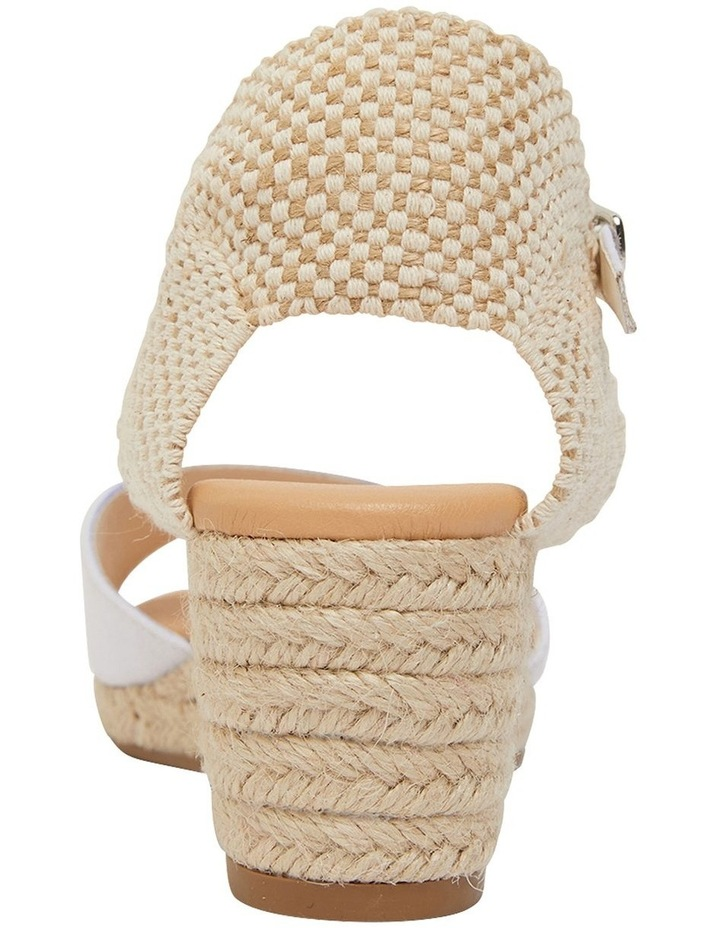 Scout White Fabric Sandals image 6