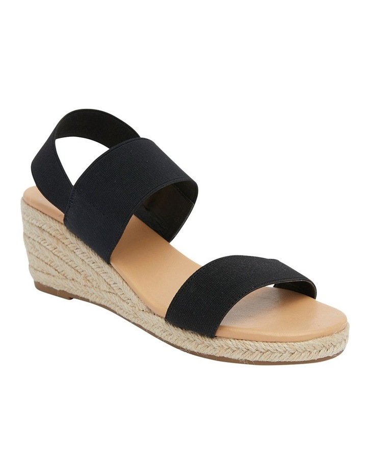 Sandy Black Elastic Sandals image 1
