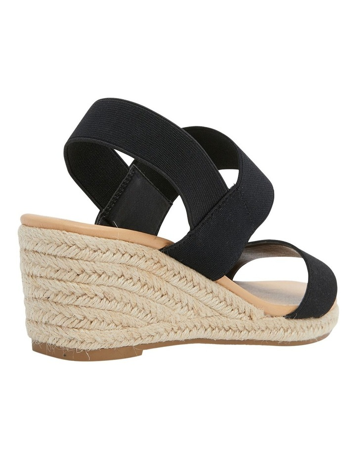 Sandy Black Elastic Sandals image 2