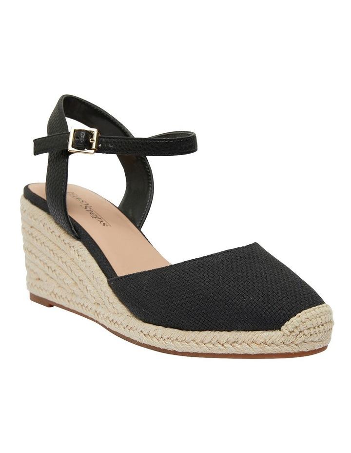 Santos Black Fabric Sandals image 2