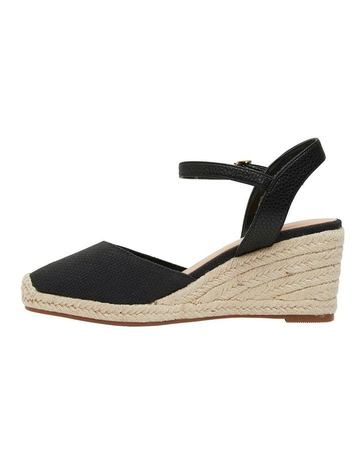Santos Black Fabric Sandals image 3