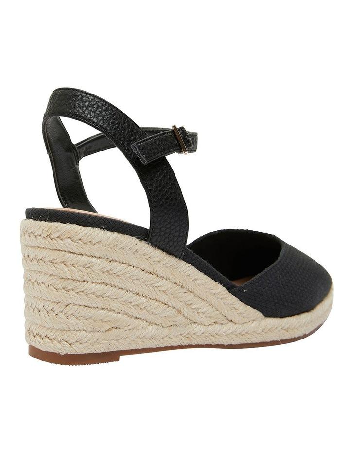 Santos Black Fabric Sandals image 4