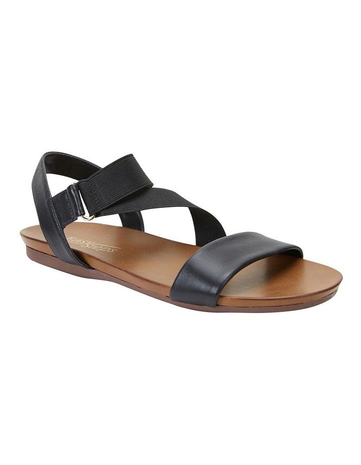 Amity Black Glove/Elastic Sandals image 2