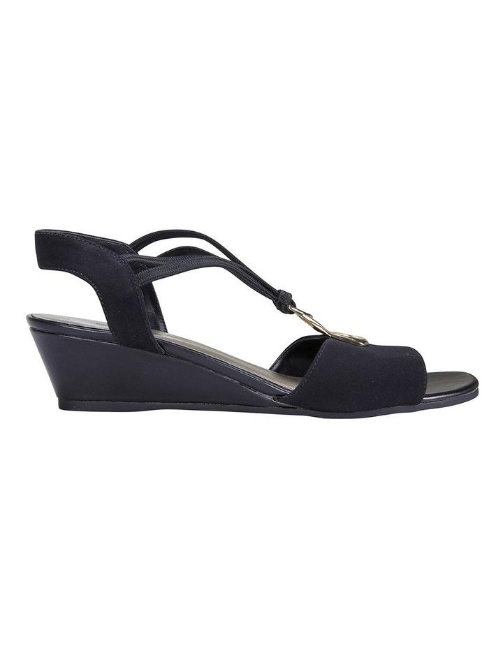 Cynthia Black Fabric Sandals image 1