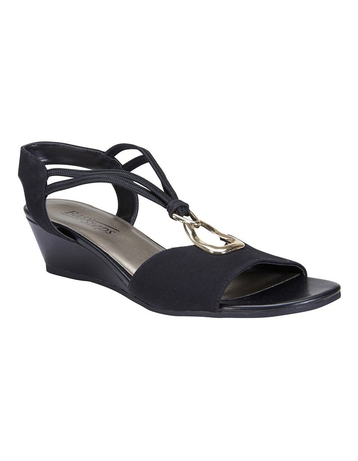 Cynthia Black Fabric Sandals image 2