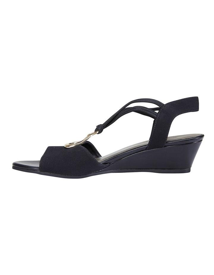 Cynthia Black Fabric Sandals image 3