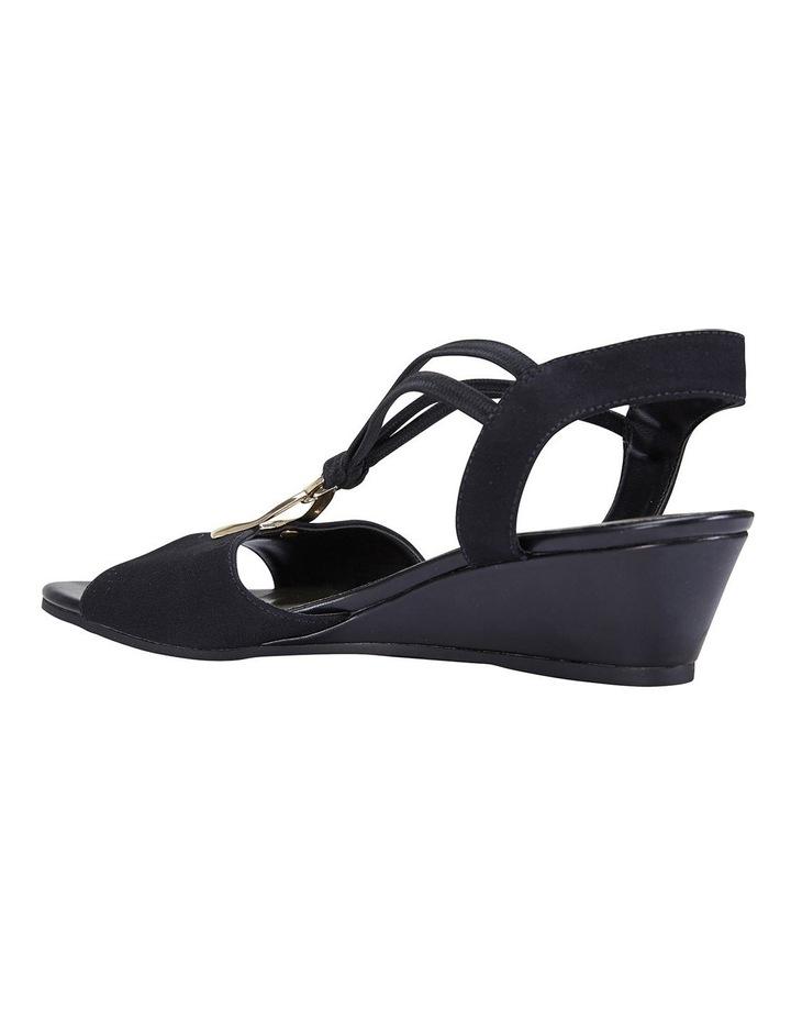 Cynthia Black Fabric Sandals image 4