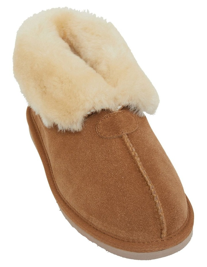 Pixie Chestnut Suede Slippers image 1