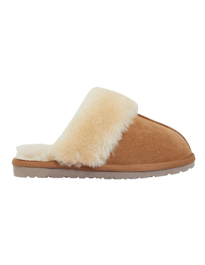 Peggy Chestnut Suede Slippers image 1