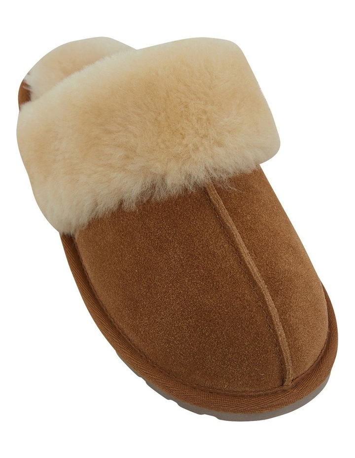 Peggy Chestnut Suede Slippers image 2