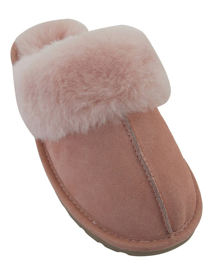 Peggy Pink Suede Slippers image 2