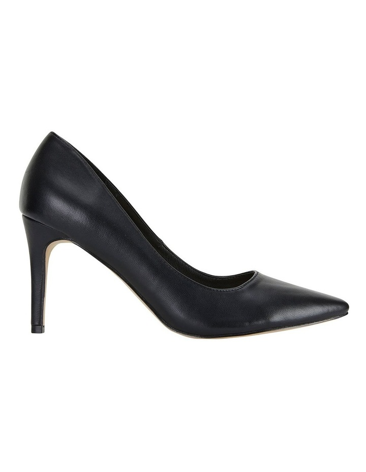 Wild Black Smooth Heeled Shoes image 1