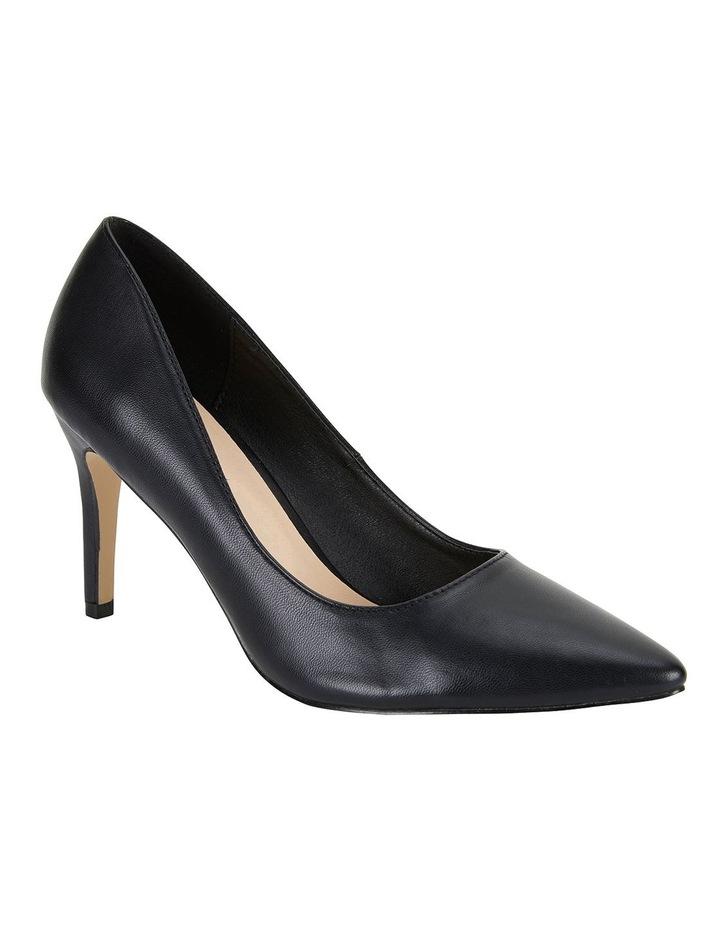 Wild Black Smooth Heeled Shoes image 2