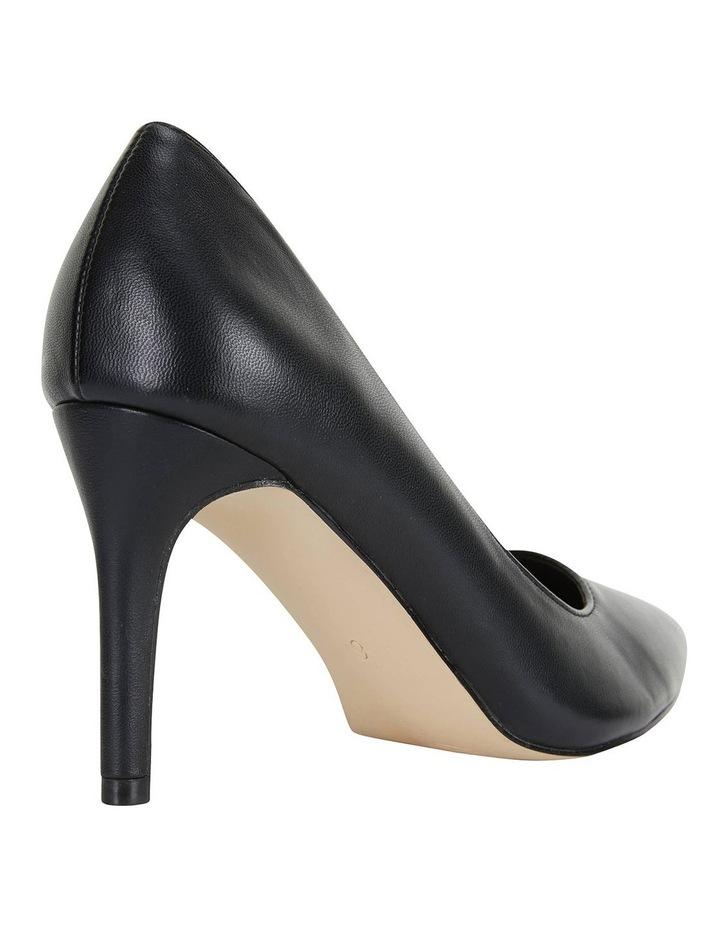 Wild Black Smooth Heeled Shoes image 4