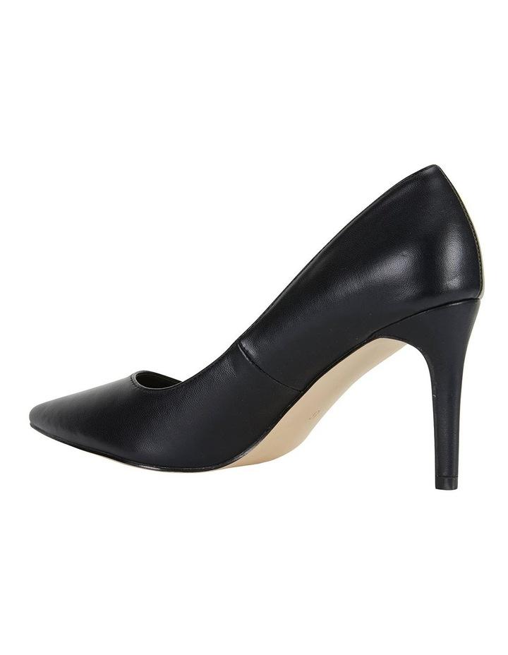 Wild Black Smooth Heeled Shoes image 7