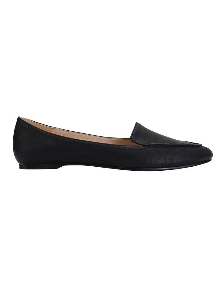 Reno Black Smooth Flat Shoes image 1
