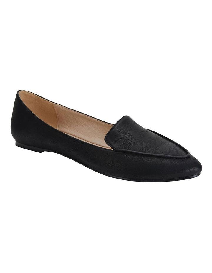 Reno Black Smooth Flat Shoes image 2