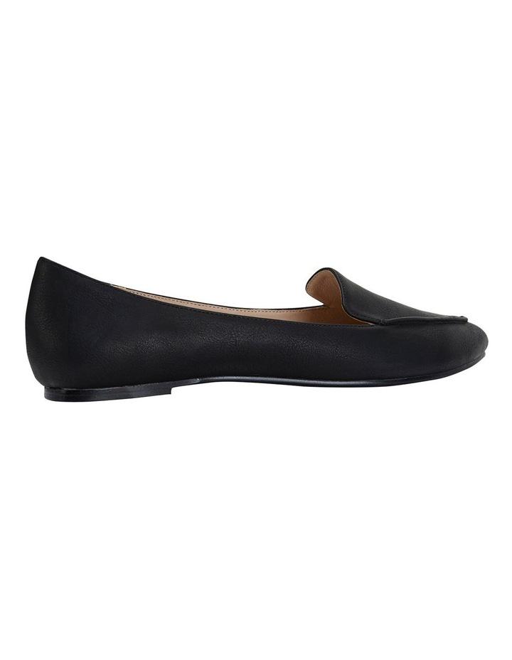 Reno Black Smooth Flat Shoes image 4