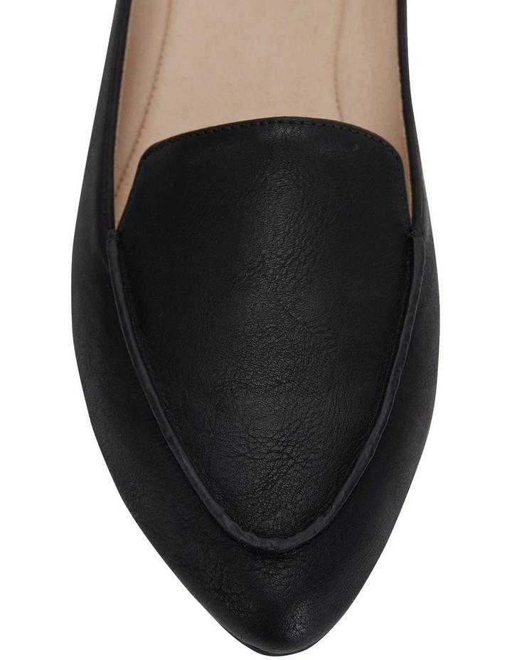Reno Black Smooth Flat Shoes image 7