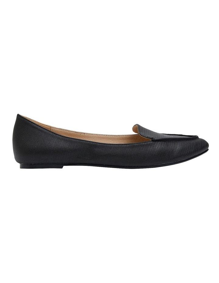 Reno Black Lizard Flat Shoes image 1