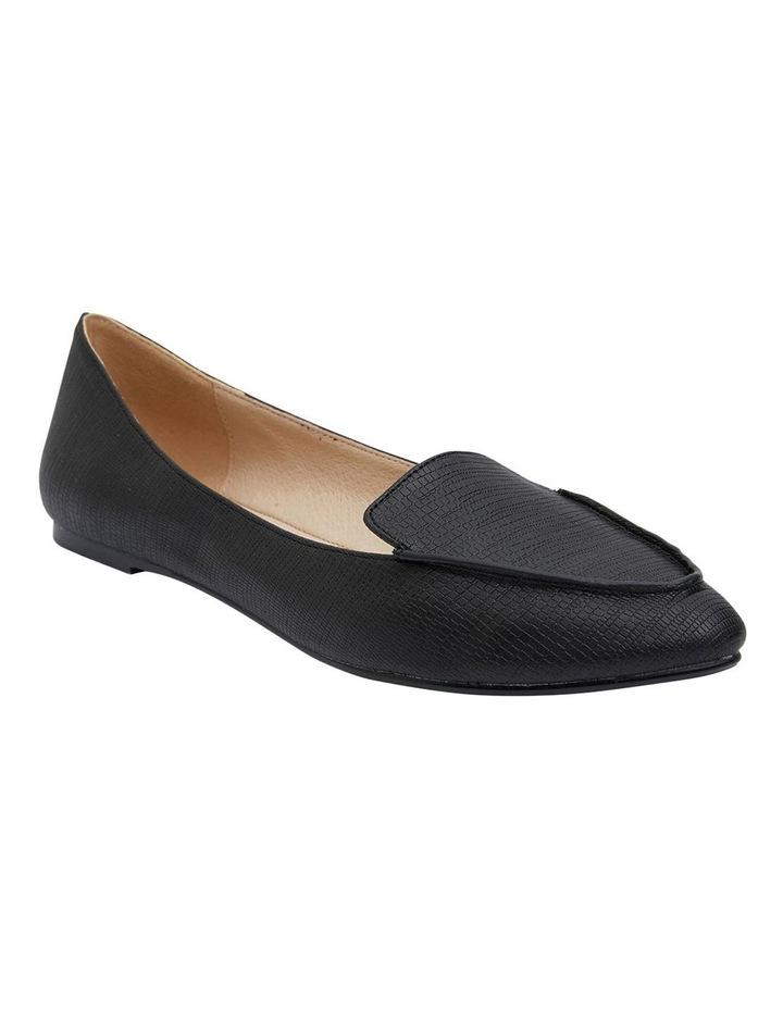 Reno Black Lizard Flat Shoes image 2