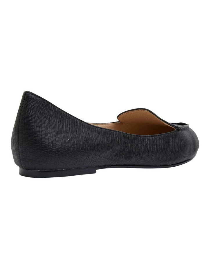 Reno Black Lizard Flat Shoes image 4