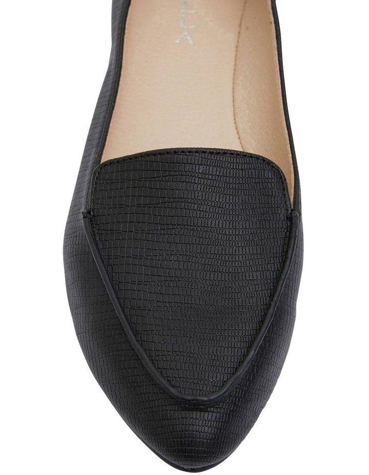 Reno Black Lizard Flat Shoes image 6