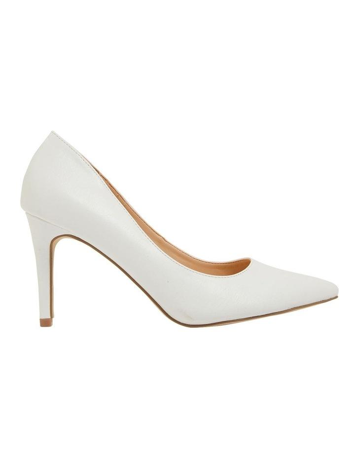 Wild White Smooth Heeled Shoes image 1