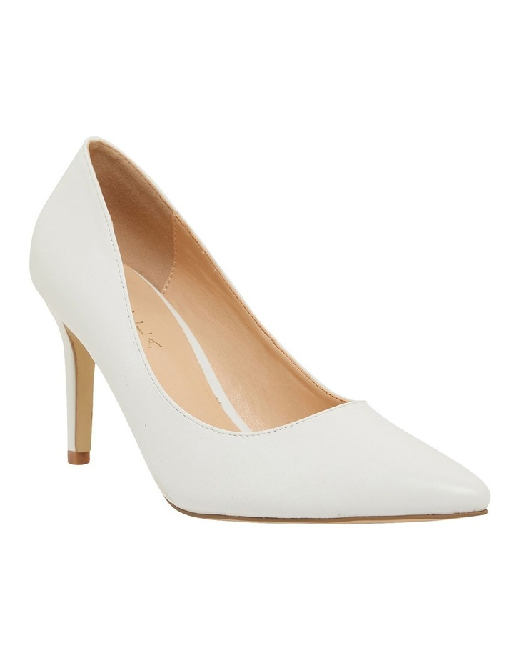 Wild White Smooth Heeled Shoes image 2