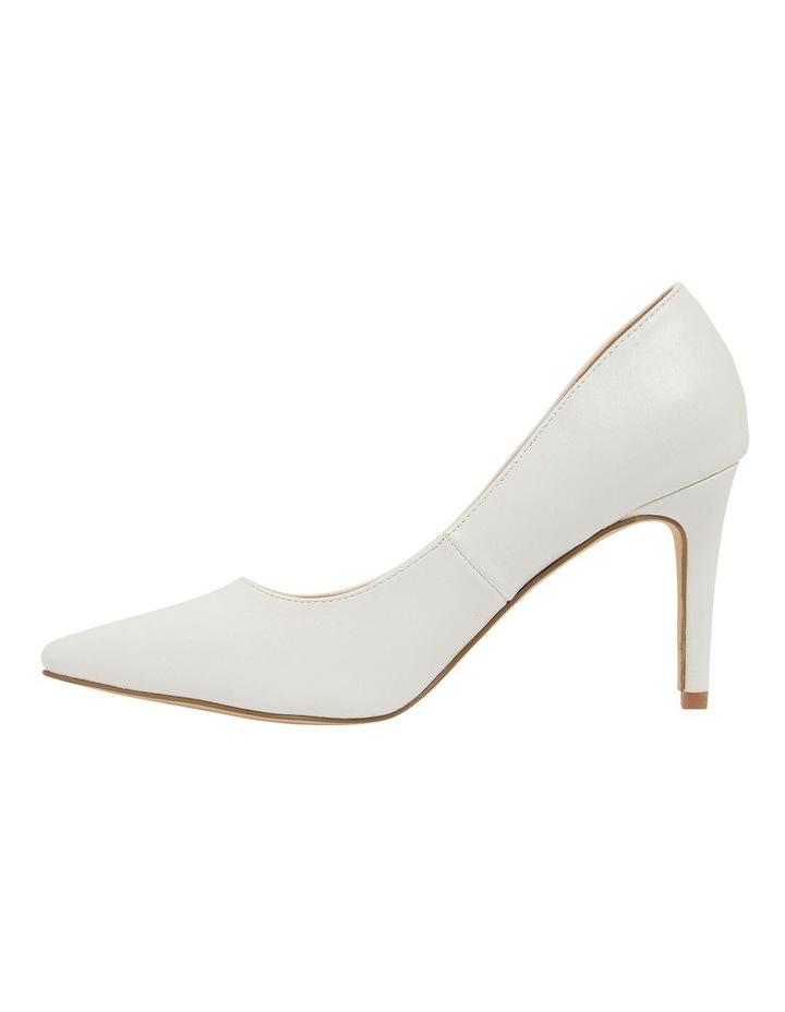 Wild White Smooth Heeled Shoes image 3