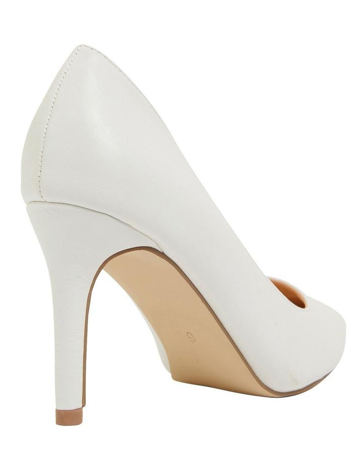 Wild White Smooth Heeled Shoes image 4