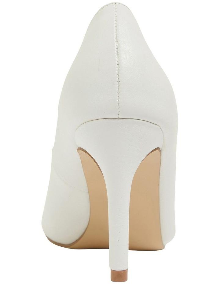 Wild White Smooth Heeled Shoes image 5