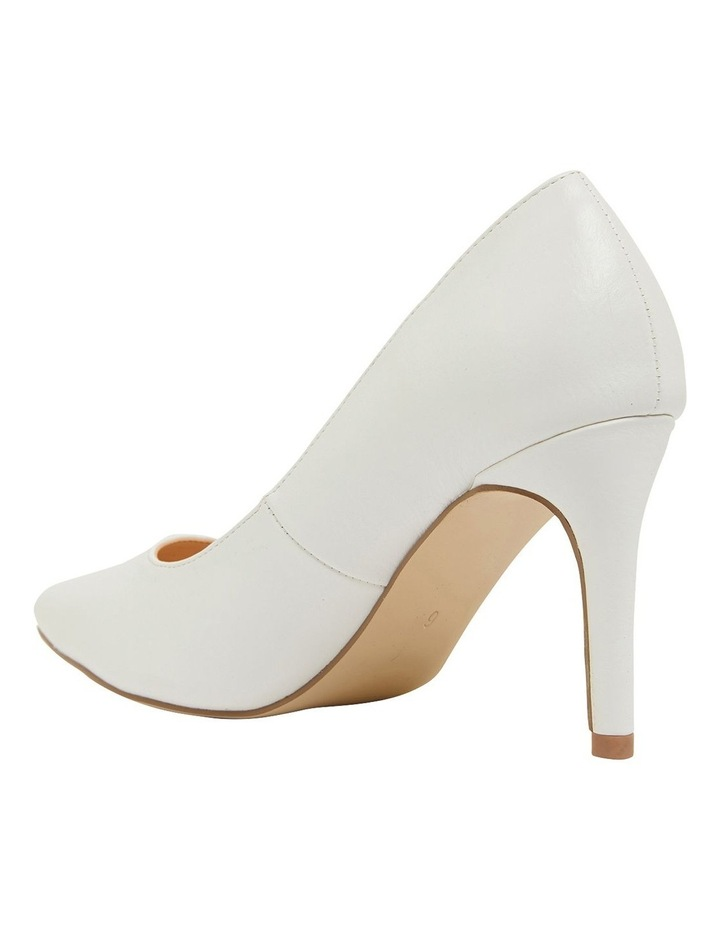 Wild White Smooth Heeled Shoes image 6
