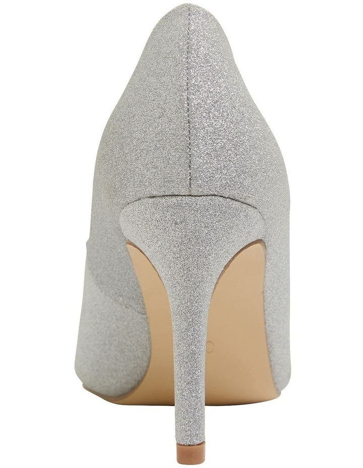 Wild Silver Glitter Heeled Shoes image 5