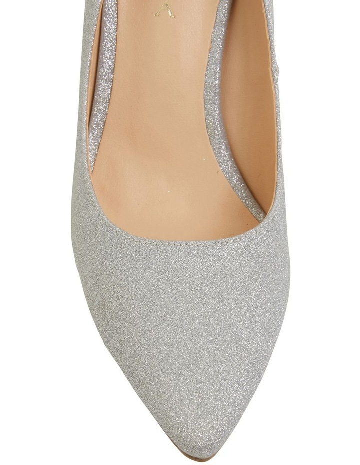 Wild Silver Glitter Heeled Shoes image 7
