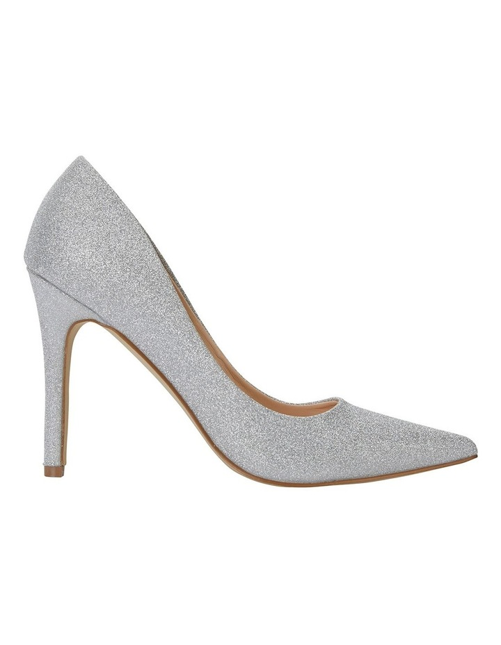 Harbour Silver Glitter Heeled Shoes image 1
