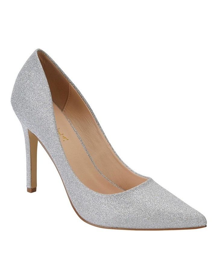Harbour Silver Glitter Heeled Shoes image 2