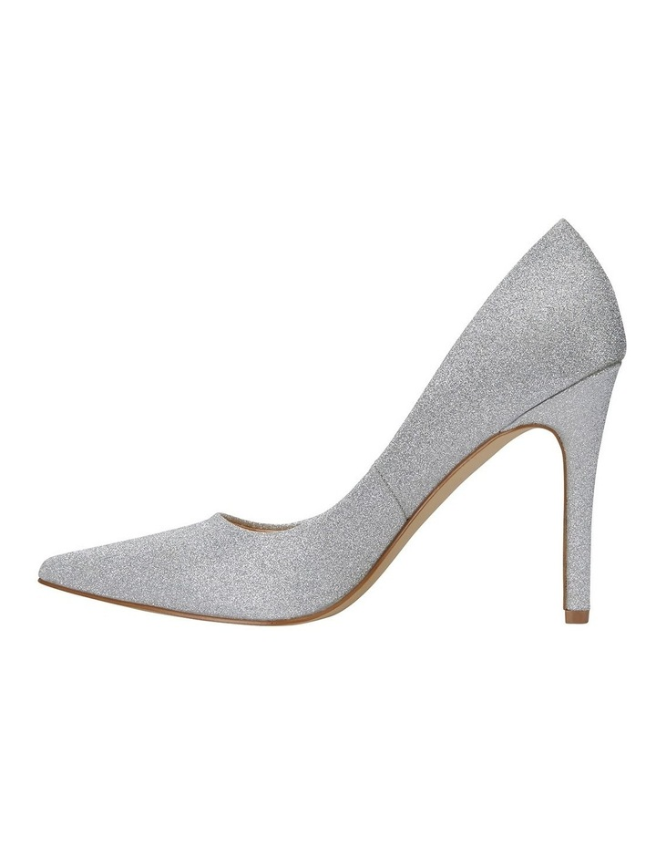 Harbour Silver Glitter Heeled Shoes image 3