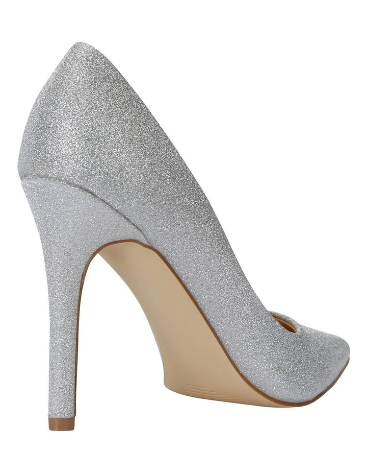 Harbour Silver Glitter Heeled Shoes image 4