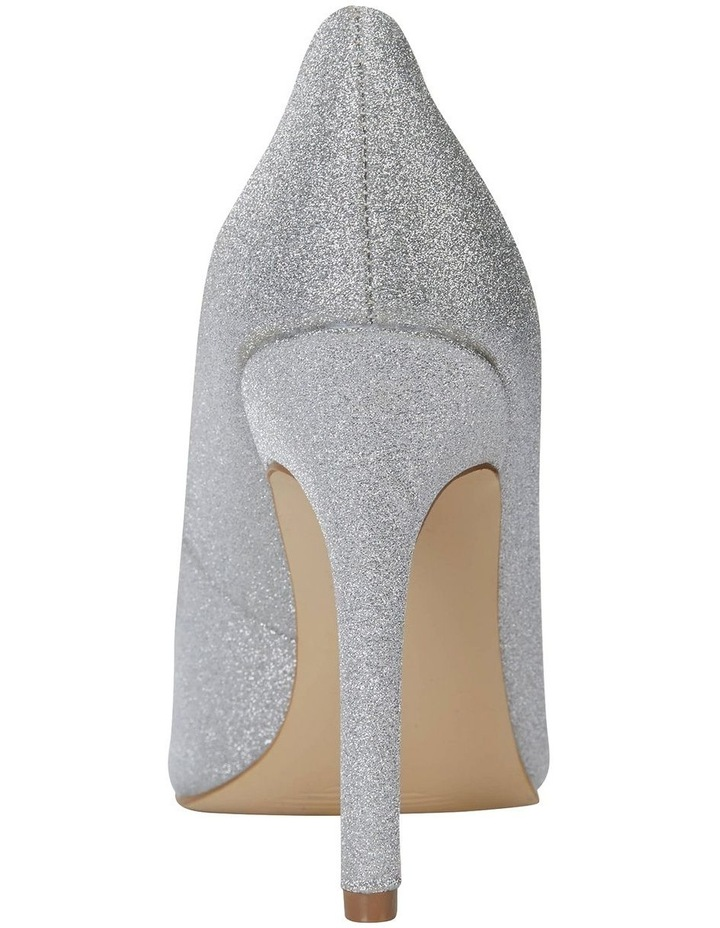 Harbour Silver Glitter Heeled Shoes image 5